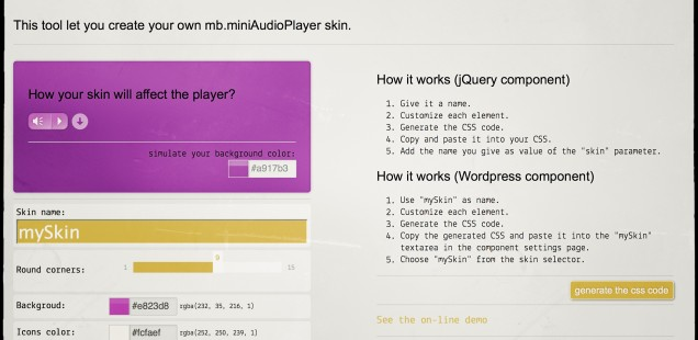 Good news for all WordPress' users. MiniAudioPlayer is now Skinnable!