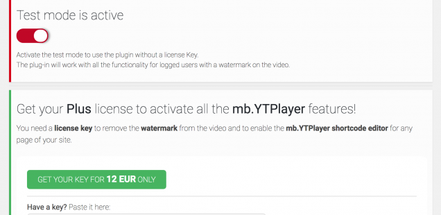 How to run the mb.YTPlayer Plus Wordpress plug-in on a development site